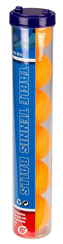 Get & Go Tischtennisbälle Im Behälter 6 Stück, Orange, One Size GETGC|#Get & Go 61PI-ORA-Uni