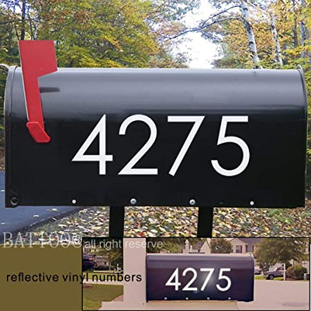 Reflective Street Address Mailbox Number Car Vinyl Decal  Stickers White  !!!