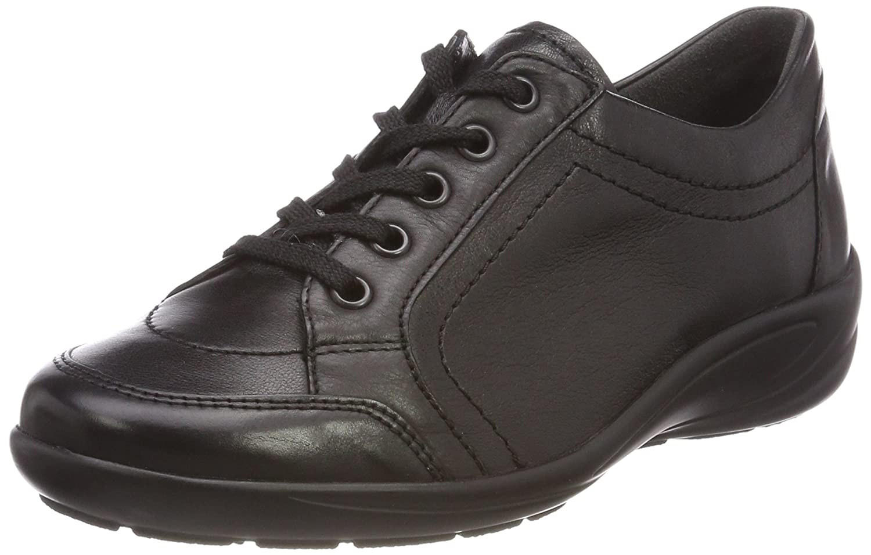 Semler Birgit, Zapatos de Cordones Brogue para Mujer 40 2/3 EU|Negro (Schwarz 001)