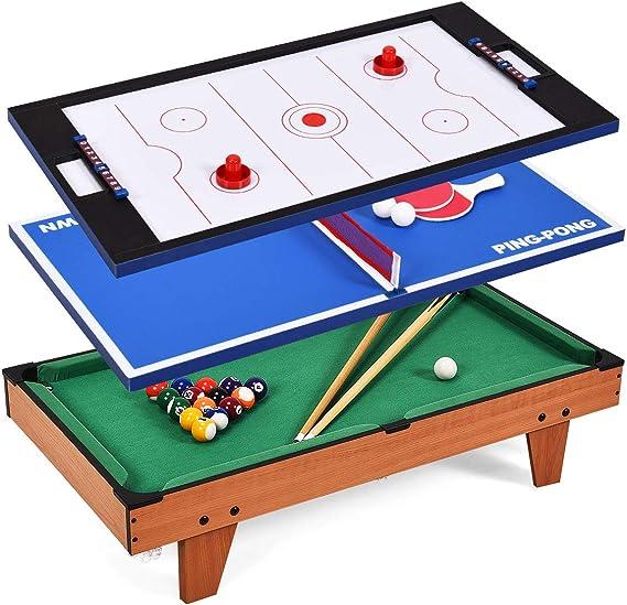 Giantex Mesa de Juego Multi Piscina Billar combinación de Tenis de ...