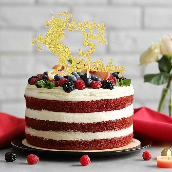 Decoración para tarta de 5 cumpleaños.: Amazon.com: Grocery ...