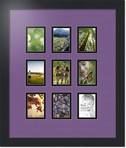 Amazoncom Arttoframes Collage Photo Frame Double Mat With 9 25x3