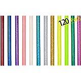 120 Bâton de Colle Chaude 7mm Colle Thermofusible Couleur Paillette pour Décoration Créative DIY