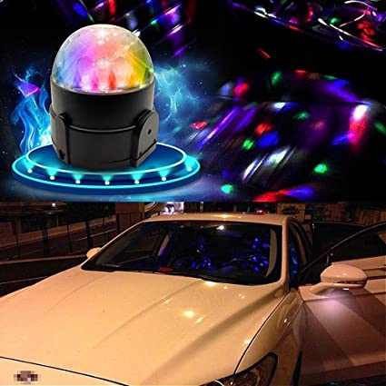 Amazoncom Aumomate V Car Disco DJ Effect Stage LED Light Color - Led car show lights