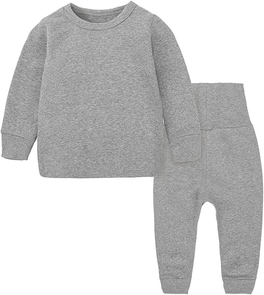 Kids Tales Little Boys/&Girls 2 Piece Solid Pajama Set Cotton 3M-14Years