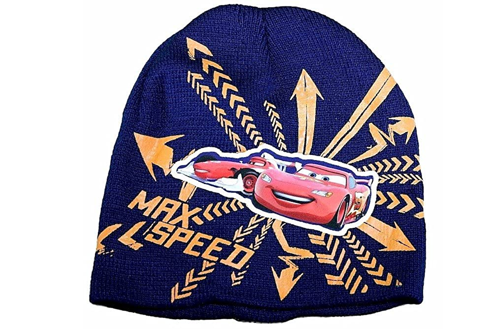 Disney Pixar CarsMax Speed Boys Navy Hat /& Gloves Set Sz 4-7