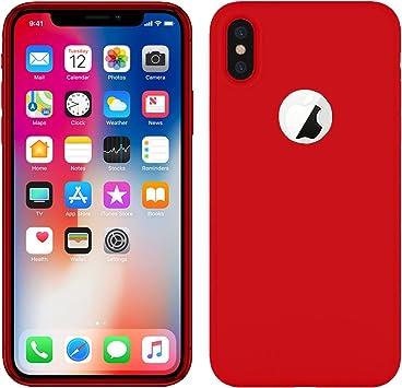 TBOC® Funda de Gel TPU Roja para Apple iPhone X (5.8 Pulgadas) de ...