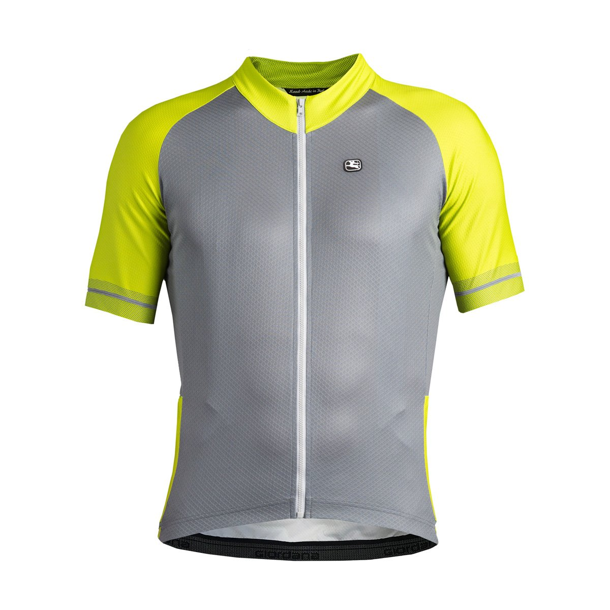 Giordana Lungo Jersey – Men 's B0799KHQ5H XXX-Large|FLUO GREEN/GREY FLUO GREEN/GREY XXX-Large