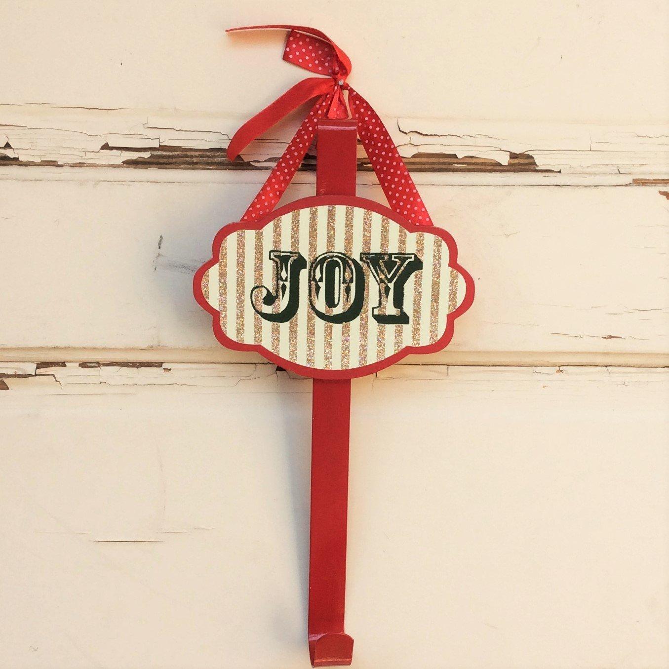 AG Designs Christmas Decor - Wreath Door Hanger Hook Glitter JOY