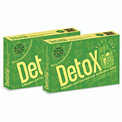 Cvetita Herbal, 2 x DETOX, 2 x 30 tabletas fórmula innovadora efectiva - vitamina