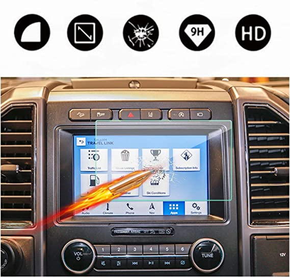 for Ford F150 F-150 2015-2019 Interior Car Navigation Screen Protector Anti-Fingerprint Tempered Films
