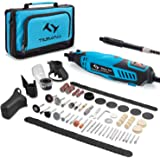 Tilswall Rotary Tool Kit 160W with 6-Level Variable Speed 145pcs Accessories Electric Drill Set for Crafting Projects…