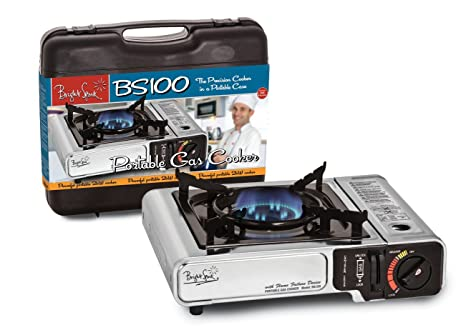 N//A Silver Bright Spark BS100S Portable Table Top Gas Cooker