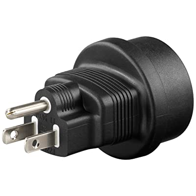 Zócalo de contacto de protección en el adaptador de viaje del adaptador de corriente de enchufe de EE. UU./Japón, 1 pieza, 95308