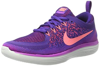 Nike Damen Free Run Distance 2 Laufschuhe Violett (Hyper Grape/Lava ...