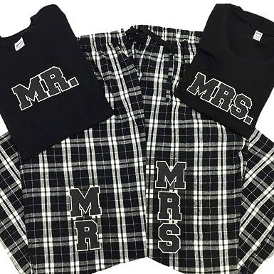576d5af9042 Zynotti Mrs. Couple Matching Black and White Flannel Plaid Pajama Lounge  Sleep Pants - Small