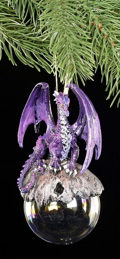 Fantasy Schmuck Weihnachtsbaum Deko Figur Christbaum Kugel Drache Gothic