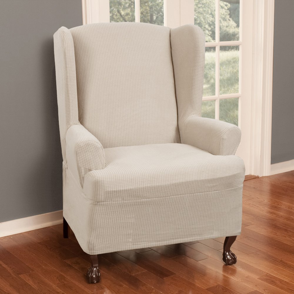 Wing Chair Slipcover 2 Piece Slipcover For Large Sofa