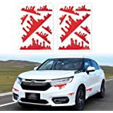 TOMALL 2 Sheets (14pcs) Red Blood Stickers for Car Funny Halloween Theme Bleeding Decals for Car Self-Adhesive Stickers for C