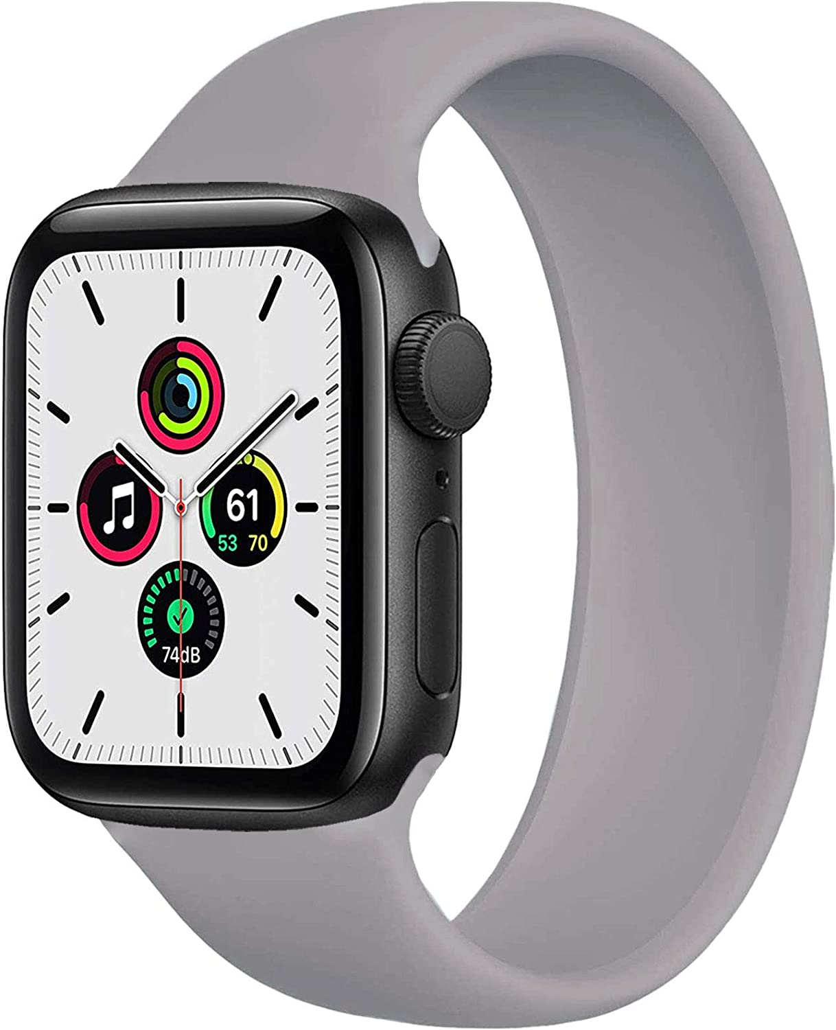 WAAILU Solo Loop Band Compatible with Apple Watch SE Series 6 Bands 38mm 40mm 42mm 44mm, Replacement Band, Stretchable Soft Silicone with no Clasps or Buckles, Compatible for iWatch Series5/4/3/2/1