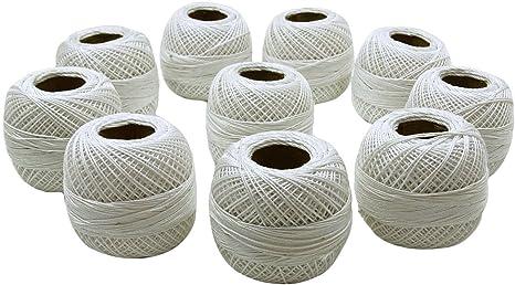 10 Pcs Gray Cotton Crochet Thread Knitting Mercerized Embroidery Yarn Tatting