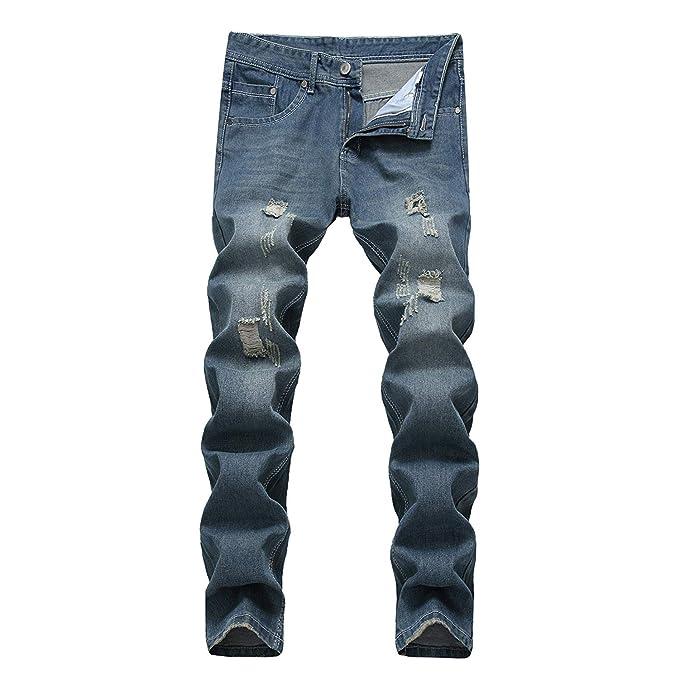 BOLAWOO Pantalones Vaqueros De Los Algodón Hombres De De ...
