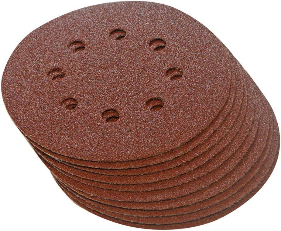 990864 grana assortiti forate Set 10/pezzi Silverline Dischi abrasivi in velcro