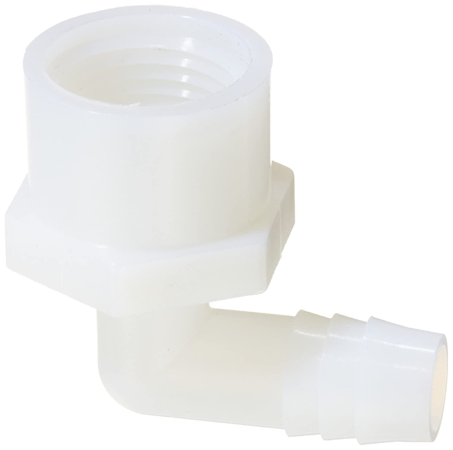 Parker Hannifin 329HB-8-8N-pk5 Par-Barb Male Elbow Fitting Pack of 5 1//2 Hose Barb x 1//2 Male NPT White 90 Degree Angle Nylon