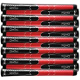 SET OF 9 or 13 WINN DRITAC AVS STANDARD BLACK / RED GOLF GRIP. 5DT-BRD