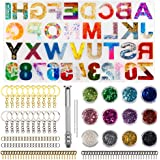 JOYYPOP Letter Resin Molds Backward Alphabet Silicone Mold for Making Resin Keychains, Pendant Jewelry, Epoxy Resin Crafts