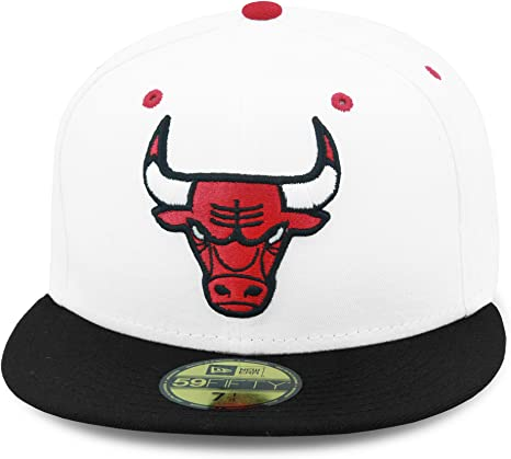 A NEW ERA Era 59FIFTY Chicago Bulls - Gorra, Color Blanco y Negro ...