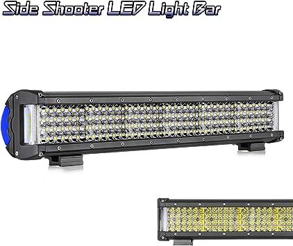 12 Inch LED Light Bar Teochew-LED Triple Row Spot Flood Combo LED Driving Light Off Road Work Light for ATV UTV Truck Boat Tractor Jeep