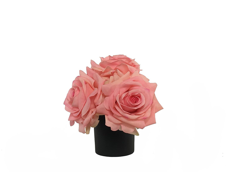 RG Style シルクローズ 装飾花瓶 造花アレンジメント B078SVGD39