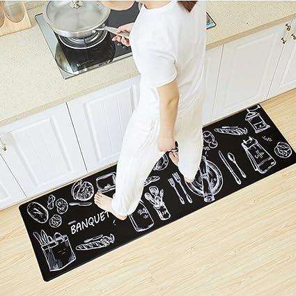 Amazon.com: USTIDE Nonslip Rubber Backed Kitchen Area Rug Soft ...