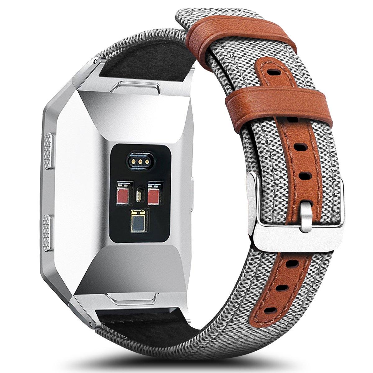 Para Fitbit Ionic - Bandas gran pequeño, cidetty Tejido Tejido de ...
