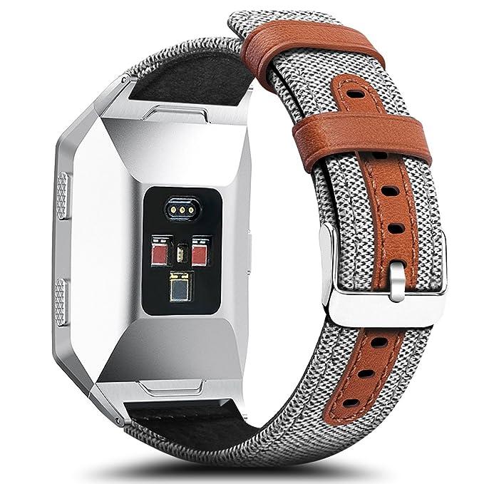 Para Fitbit Ionic - Bandas gran pequeño, cidetty Tejido ...