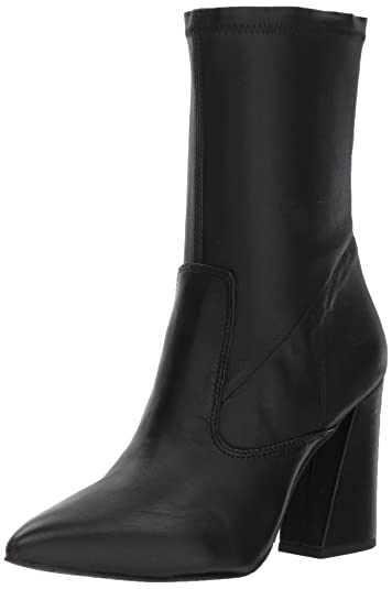 Women's Galla Pointed Toe Bootie With Flared Heel Stretch Shaft Ankle Boot