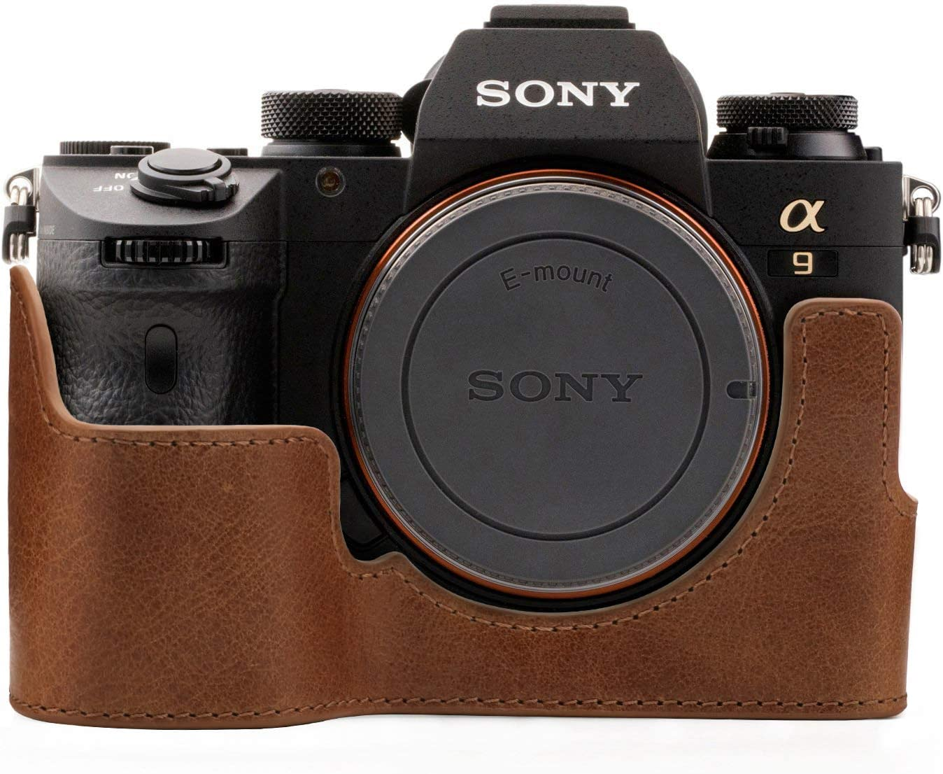 Gadget Place Light Brown Classy Leather Wrist Strap for Sony a7R Mark III a9 Alpha A7R Mark III A9