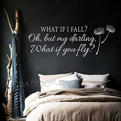 Amazoncom Battoo What If I Fall Oh My Darling What If You Fly Wall