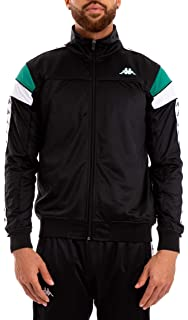 KAPPA mens clothing sweatshirt with zip 303RWG0 909 JACKET L Nero