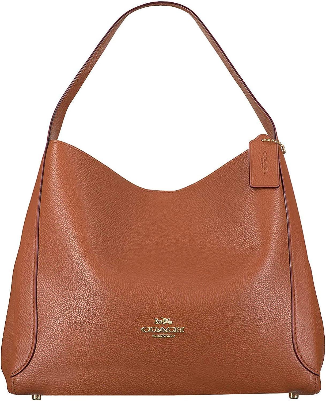 Coach Hadley Hobo Ladies Medium Saddle Brown Leather Shoulder Bag 73549GDO5K