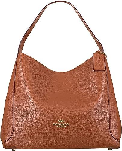 Amazon.com: Coach Hadley Hobo Ladies Medium Saddle Brown Leather ...