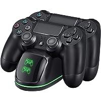 VicTsing Cargador PS4 Dual Estación de Carga con indicador LED, Compatible con Playstation4, PS4, PS4 Pro, PS4 Slim…