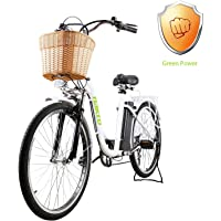 Nakto 26 City Electric Bicycles And Assisted Bicycle For Men Woman With Removable 36v