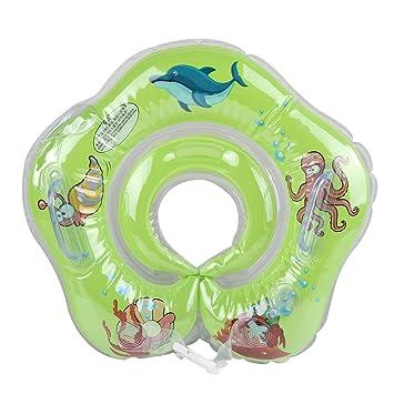 Jipai(TM) Natación Flotador Inflable Anillo Seguridad de Natación del Bebé Anillo Flotador Ajustable de Cuello com Doble Airbag para 1-18 Meses Bebé ...