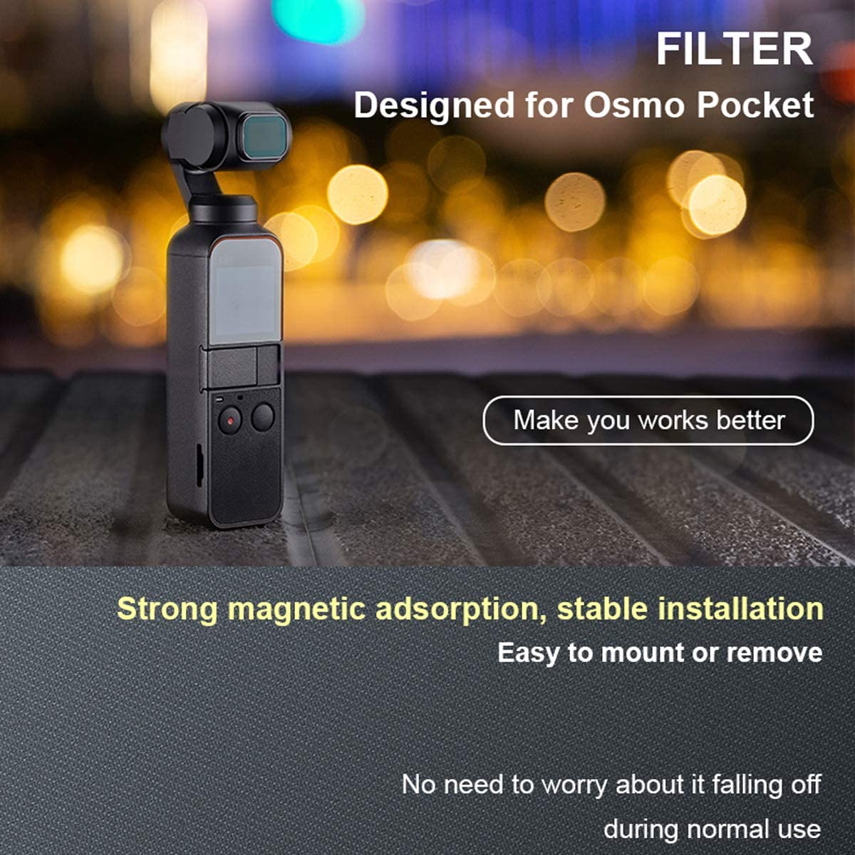 OSMO Pocket Lens Filter Waterproof Diving Filter ND8//16//32//64 Angle Adjustable Filters for DJI Osmo Pocket Protector