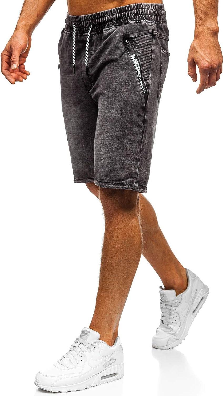 BOLF Hombre Pantalón Corto Pantalones Vaqueros Denim Regular Pantalón de Algodón Pantalón Deportivo Estilo Casual 7G7