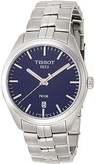8711664e6b4a Tissot PR 100 Blue Dial Stainless Steel Quartz Men s Watch T1014101104100