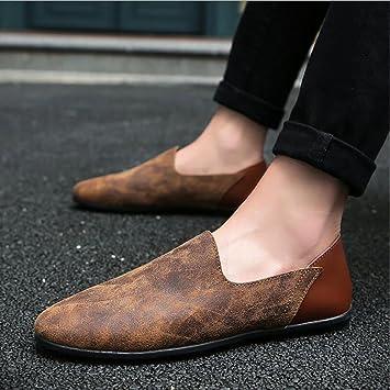 YAN Zapatos De Hombre Zapatos De Cuero Oxford Casuales Zapatos De Mocasines Zapatos De Negocios De Conducción Plana, B,41: Amazon.es: Jardín