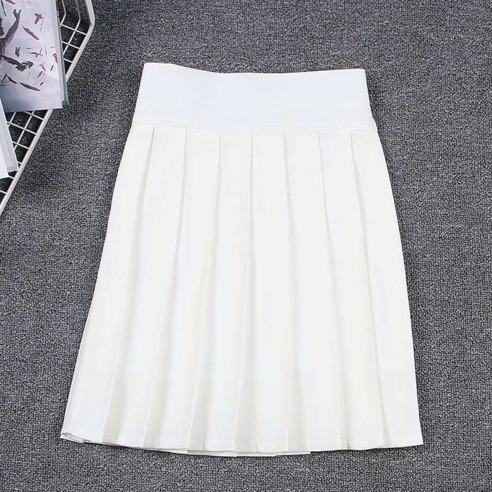 HEHEAB Falda,Falda Plisada Linda Japonesa Blanca Cosplay Uniforme ...